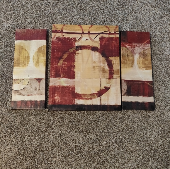 None Other - Set of 3 Canvas Pictures